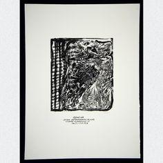 Originales Ausstellungsplakat einer Werksausstellung des Leipziger Künstlers Sighard Gille im Klub der Elsterstraße 35, Leipzig, signiert & datiert, 1976.  ABMESSUNGEN: ca. B 37,5 cm x H 50,3 cm