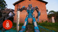 How a Father-Son Duo Turns Trash Into Transformers