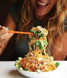 Tangled Thai Salad with peanut lime dressing.