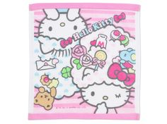 Hello Kitty Hand Towel Colorful Dream Sanrio Made in JAPAN