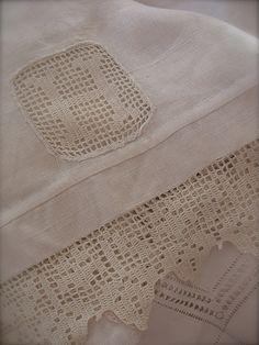 Filet Crochet... Love!!  No pattern