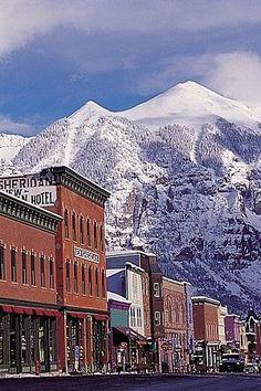 Beautiful USA- Quaint ski town of Telluride, Colorado