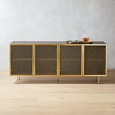 Upgrade your home organization with modern storage cabinets. Shop standing and mounted cabinets for the entryway, bedroom, living room and bar. Large Sideboard, Modern Sideboard, Modern Storage Furniture, Home Furniture, Furniture Styles, Furniture Design, Wire Mesh, Metal Mesh, Mid Century Modern Buffet