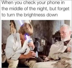 When you check your phone in the middle of the night