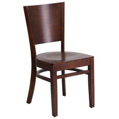 Flash Furniture Lacey Series Solid Back Walnut Wooden Chair