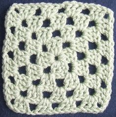 Solid Color Granny Square NOTE: Please realize that although I am not the designer of the common Granny Square and cannot claim copyright ...