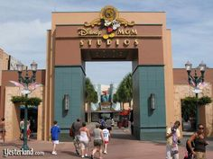 Vintage Disney-MGM Studios Animation Courtyard gate Changed to Hollywood Studios in Jan 2008