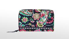 Vera Bradley - Turn Lock Wallet (Petal Paisley) - Bags and Luggage Best Wallet, Slim Wallet, Front Pocket Wallet, Minimalist Wallet, Credit Card Wallet, Wallets For Women, Vera Bradley, Leather Wallet, Paisley