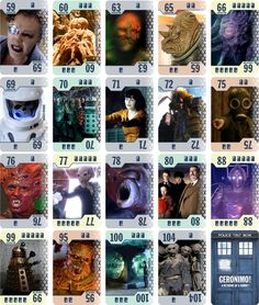 More samples of some of the cards from my Doctor Who retheme of 6 Nimmt!/Category 5/The Walking Dead Card Game