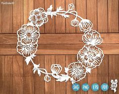 Detailed Floral Wreath Svg, Floral Wreath SVG, Wreath SVG, Flowers Svg, Wreath svg | Floral svg | Monogram Frame Svg | Wreath Svg file | Wedding Svg | Silhouette Svg | Cricut Svg | Svg Cut Files For personal and commercial use. Digital Download.