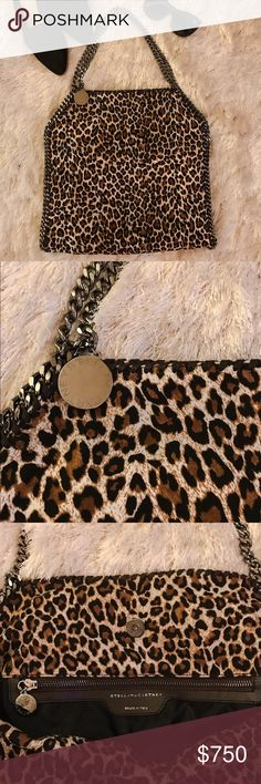 ⚡️lowest⚡️STELLA MCCARTNEY Falabella Eco Leo Tote Authentic Falabella small tote in leopard with silver hardware. Pre-loved and in great condition. Minor scuffs on hardware. Made of  88% polyester & 12% polyurethane. Original dust bag included. This small tote holds a lot, perfect for every day use without being too big and bulky. Decided to sell because I just got the new Falabella with fringe 😍. No Trades. Stella McCartney Bags Totes