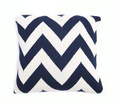 Navy Chevron Pillow