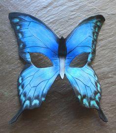 Blue Butterfly Mask by SilverCicada.deviantart.com on @DeviantArt