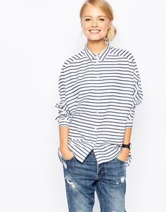 Image 1 of Monki Stripe Shirt