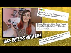 Well Let's Find Out! Take Quizzes With Me - YouTube That's What She Said, I Dare You, Popular Shows, Would You Rather, Quizzes, Hot Guys, Music Videos, How To Find Out, Social Media