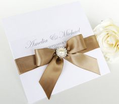 Wedding invitation Handmade invite stationery by LOVEBERRYLANE, $11.50