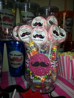 Mustache Party Ideas | Mustache Candy Bar | Party Ideas