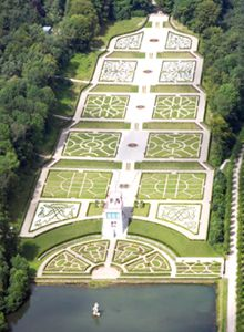 Schloss Gottorf, Schleswig, Germany - Barockgarten - Original garden was started in 1637 as 'Neues Werk' by Duke Friedrich III, this garden was the first terras garden after Italian example in Northern Europe.