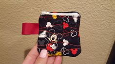 Mickey Mouse Zippered Pouch by MadeByRandR on Etsy
