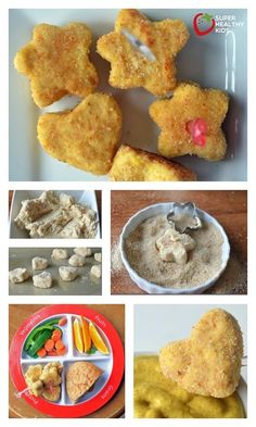 Easy for todd… Toddler Perfect Chicken Nuggets Recipe – Toddler perfect nuggets! Easy for toddlers to eat without choking on hunks of meat! Homemade Chicken Nuggets, Chicken Nugget Recipes, Healthy Chicken Nuggets, Chicken Recipes For Toddlers, Kids Chicken Nuggets, Toddler Lunches, Toddler Food, Healthy Snacks, Healthy Recipes