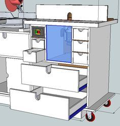 Planning the Makeover #3: SketchUp Plans - Miter Saw & Router Mobile Workstation - by Jeison @ LumberJocks.com ~ woodworking community