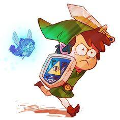 """Gravity Falls/Legend of Zelda Crossover: Dink - Deviant Artist """"trp86"""""""