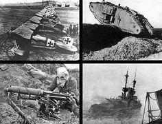 Velká válka přinesla také řadu technických inovací.(Pro zobraz. v plné velikosti klikněte na obrázek.)