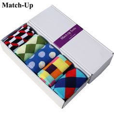 Socks Match-Up Combed Cotton Brand Men Socks,Colorful Dress Socks Pairs / Lot ) No Gift Box .t-product {background-color: 0 auto; Colorful Socks, Colourful Outfits, Colorful Clothes, Funky Socks, Crazy Socks, Harajuku, Warm Socks, Men's Socks, Socks Men