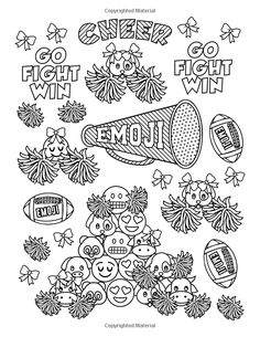 Emoji World 2 (Coloring Book): Animals, Unicorns, and Dessert OMG (Volume Emoji Coloring Pages, Valentine Coloring Pages, Coloring Book Art, Coloring Pages For Girls, Doodle Coloring, Coloring For Kids, Colouring Pages, Coloring Sheets, Emoji Design