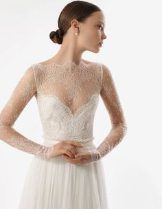 Image result for delicate lace wedding dress