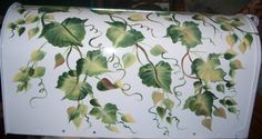 IVY LEAVES AND VINES HAND PAINTED DECORATIVE by ABeautifulGift, $54.99