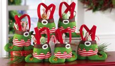 Amazon.com - Collections Etc - Holiday Elf Christmas Treat Bags - Holiday Figurines