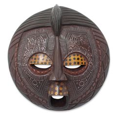 World Menagerie Izabelle Ewe Linguist African Wood Mask Wall Decor African Masks, African Art, Mask Face Paint, Abstract Face Art, Ceramic Mask, Starburst Wall Decor, Beautiful Mask, Soul Art, Tribal Patterns