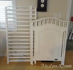 Hometalk :: Repurposed Crib Dog Crate
