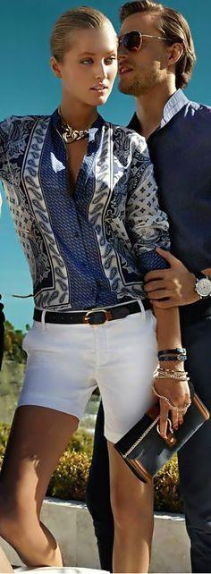 Silk scarf pattern blouse