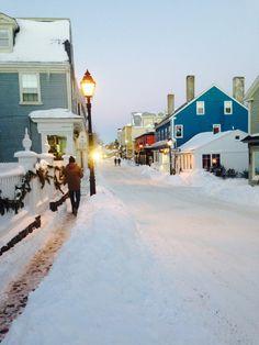 Winter wonderland in Marblehead, MA.