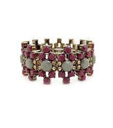 Marla Loves Me - Intricate stretch bangle bracelet featuring mixed colour gems