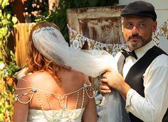 1920's Shoulder Necklace wedding bride groom