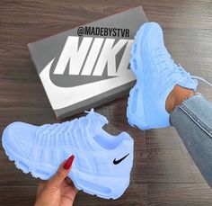 25 Women Shoes For Teens Nike Shoes blue nike sneakers Nike Shoes Blue, Nike Air Shoes, Sneakers Nike, Nike Trainers, Sneakers Women, Purple Sneakers, Nike Shoes Outfits, Baby Blue Shoes, Pink Shoes Outfit