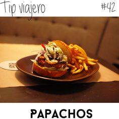 Para todos los viajeros! Este miercoles te vamos a recomendar: Papachos un rico restaurant de hamburguesas en Lima creado por Gaston Acurio.. Su concepto se basa en trabajar con productos del día, carne orgánica, el delicioso pan artesanal y el estilo peruano llevado a la hamburguesa! Te recomendamos una de las favoritas: La Gaucha!