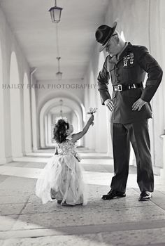 US Marine and his daughter. <3