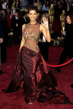 Halle Berry- I remember her dress from the Oscars. Beautiful!