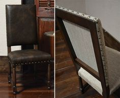 Dining Chairs in Linen or Leather @ Accents of Salado