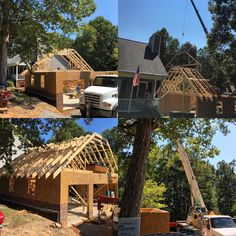 Framing Underway for Detached Garage