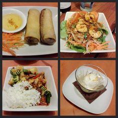 #InstagramELE #especial  Hoy cena especial en muy buena compañía: Poh pia Yam kung nom pric pao Pad ped y helado de coco #restaurante #tailandés #kinthai #ÑamÑam