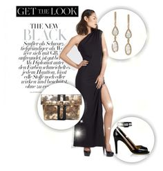 """""""Black & Bold with Aziza Zina @LDEZEN @ktzovolou @SGCollection_In #ShopAtMayfair!"""" by atmayfair ❤ liked on Polyvore"""
