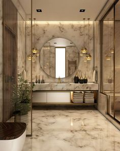 Luxury Bathroom Master Baths Photo Galleries is enormously important for your home. Whether you choose the Small Bathroom Decorating Ideas or Luxury Bathroom Master Baths Beautiful, you will create the best Luxury Bathroom Ideas for your own life. Modern Bathroom Design, Bathroom Interior Design, Modern Luxury Bathroom, Bath Design, Luxury Bedroom Design, Marble Interior, Luxury Hotel Bathroom, Modern Interior, Modern Bathrooms