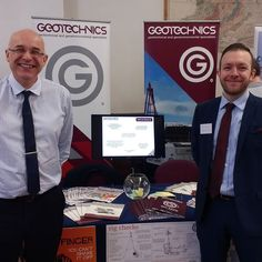 Dave and John have arrived at @livuni for their Earth Science careers fair. John did his undergraduate degree at the university and is looking forward to speaking to as many students as possible about careers in the industry #careers #geology