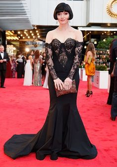 Essie Davis {Phryne Fisher} on the red carpet - Logie Awards ~ Miss Fisher's Murder Mysteries