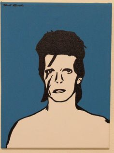 David Bowie: 9 by 12 Pop Art Painting with by anINSTITUTE on Etsy